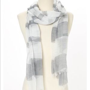 White and gray summer scarf